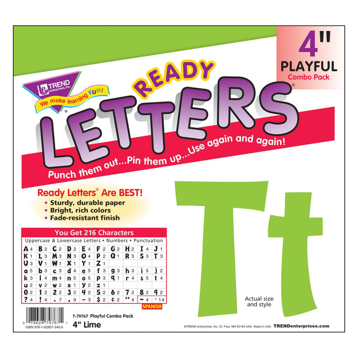 T79767 Letters 4 Inch Playful Lime Package