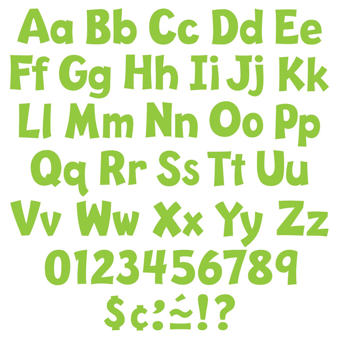 T79767 Letters 4 Inch Playful Lime Alphabet