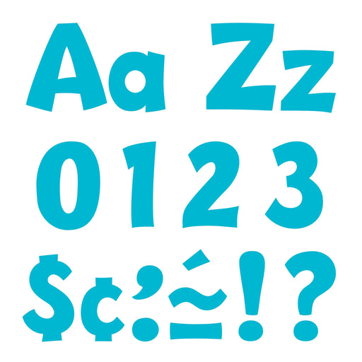 T79769 Letters 4 Inch Playful Sky Blue