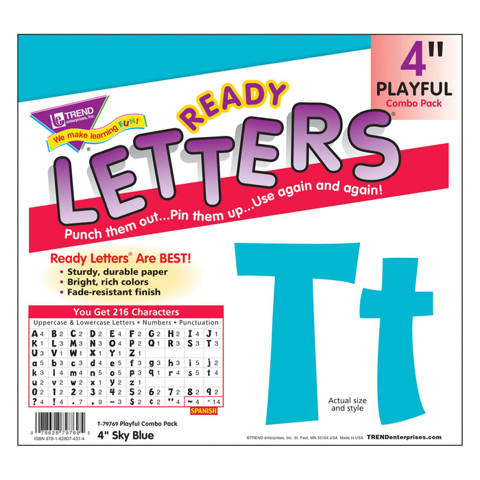 T79769 Letters 4 Inch Playful Sky Blue Package