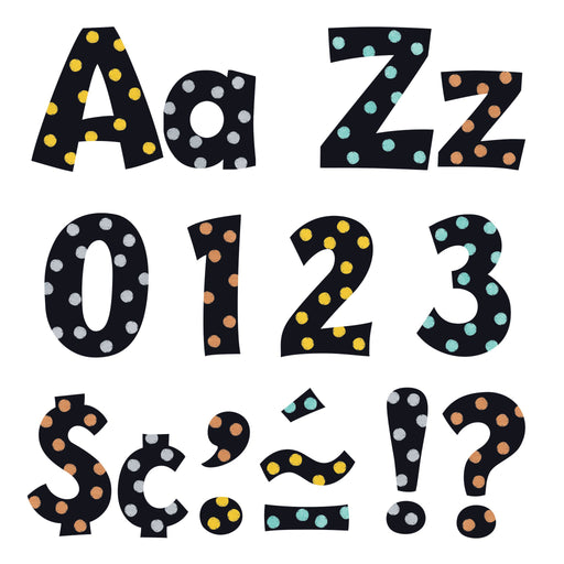 T79770 Letters 4 Inch Playful Metal Dots