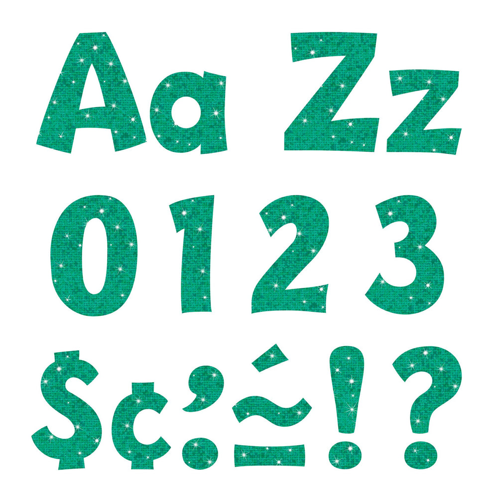 T79780 Letters 4 Inch Playful Teal Sparkle