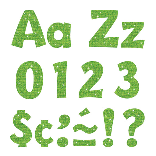 T79782 Letters 4 Inch Playful Lime Sparkle