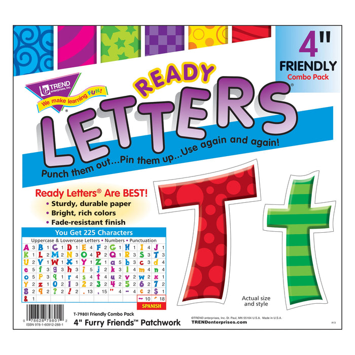 T79801 Letters 4 Inch Friendly Patchwork Package