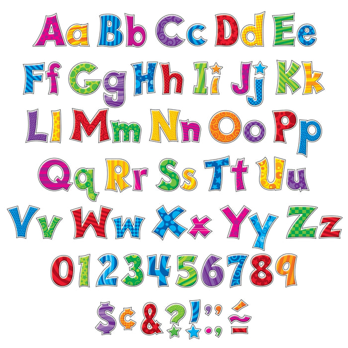 T79801 Letters 4 Inch Friendly Patchwork Alphabet