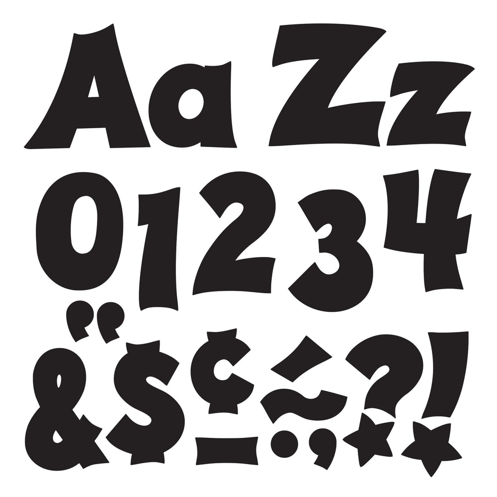 T79802 Letters 4 Inch Friendly Black