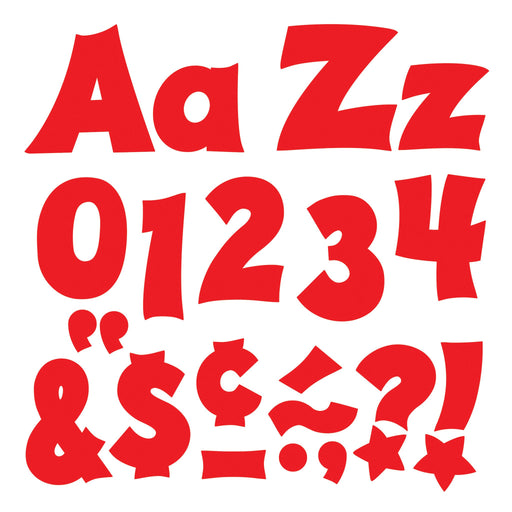 T79803 Letters 4 Inch Friendly Red