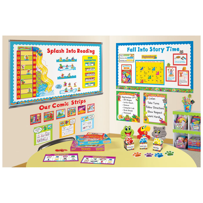 T79803 Letters 4 Inch Friendly Red Classroom