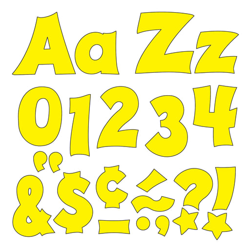T79804 Letters 4 Inch Friendly Yellow
