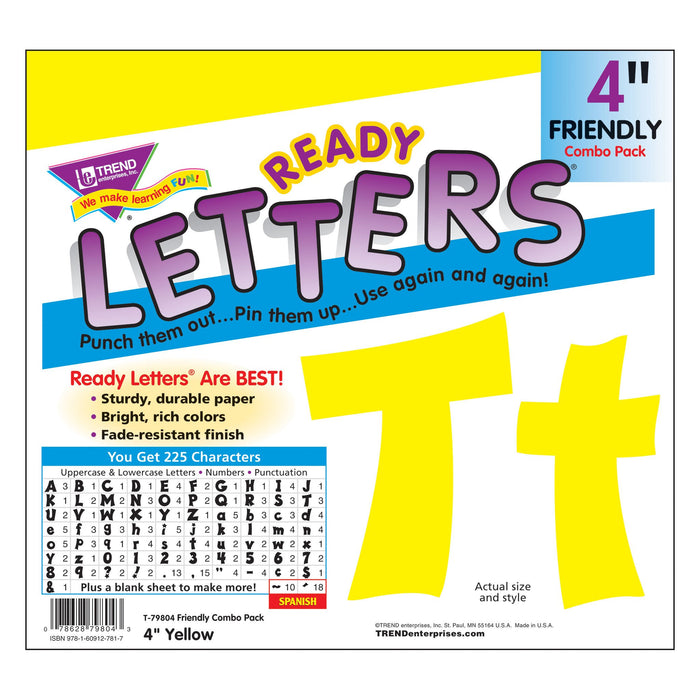 T79804 Letters 4 Inch Friendly Yellow Package