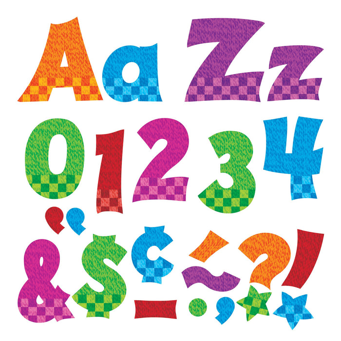 T79841 Letters 4 Inch Friendly Snazzy