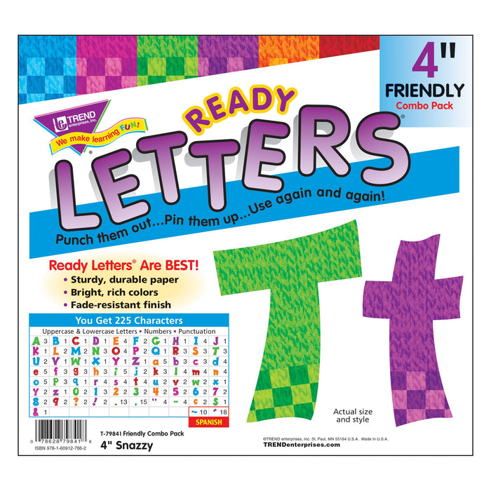 T79841 Letters 4 Inch Friendly Snazzy Package
