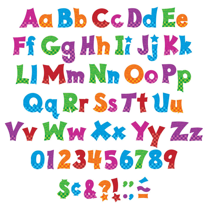 T79841 Letters 4 Inch Friendly Snazzy Alphabet