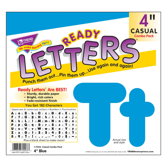 T79903 Letters 4 Inch Casual Combo Blue Package