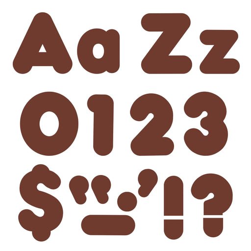T79904 Letters 4 Inch Casual Combo Chocolate