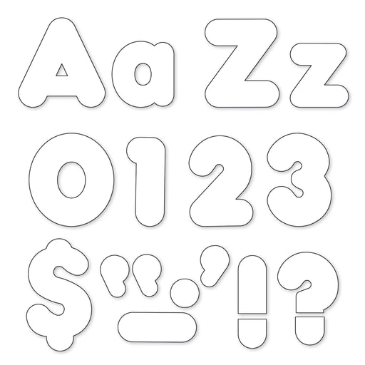 T79905 Letters 4 Inch Casual Combo White