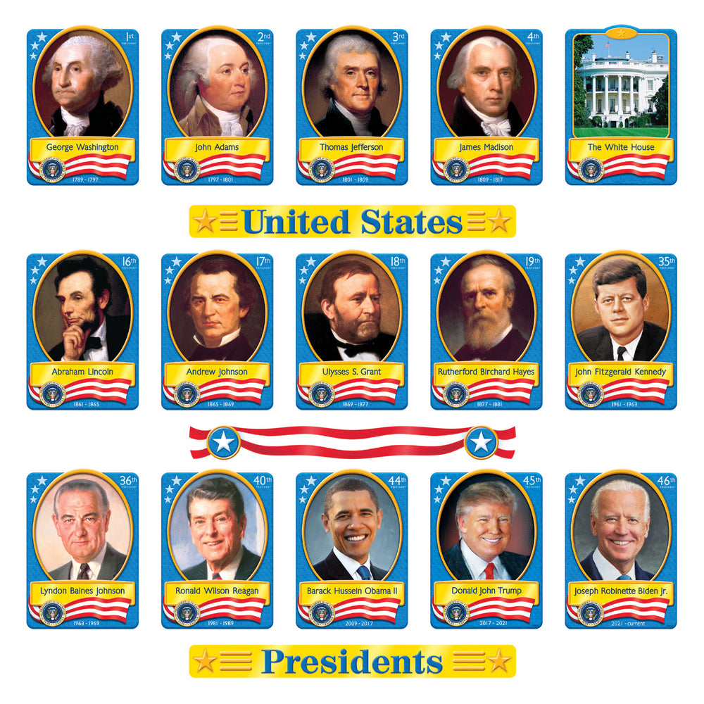 T8065 Bulletin Board United States Presidents