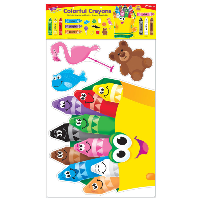 T8076 Bulletin Board Color Crayons Package