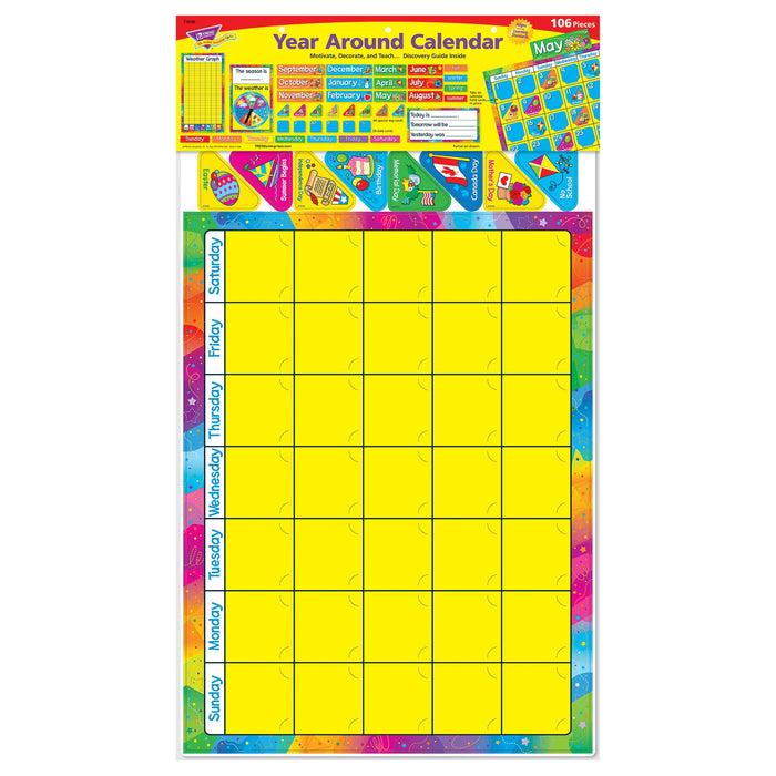 T8096 Bulletin Board Year Around Calendar Package
