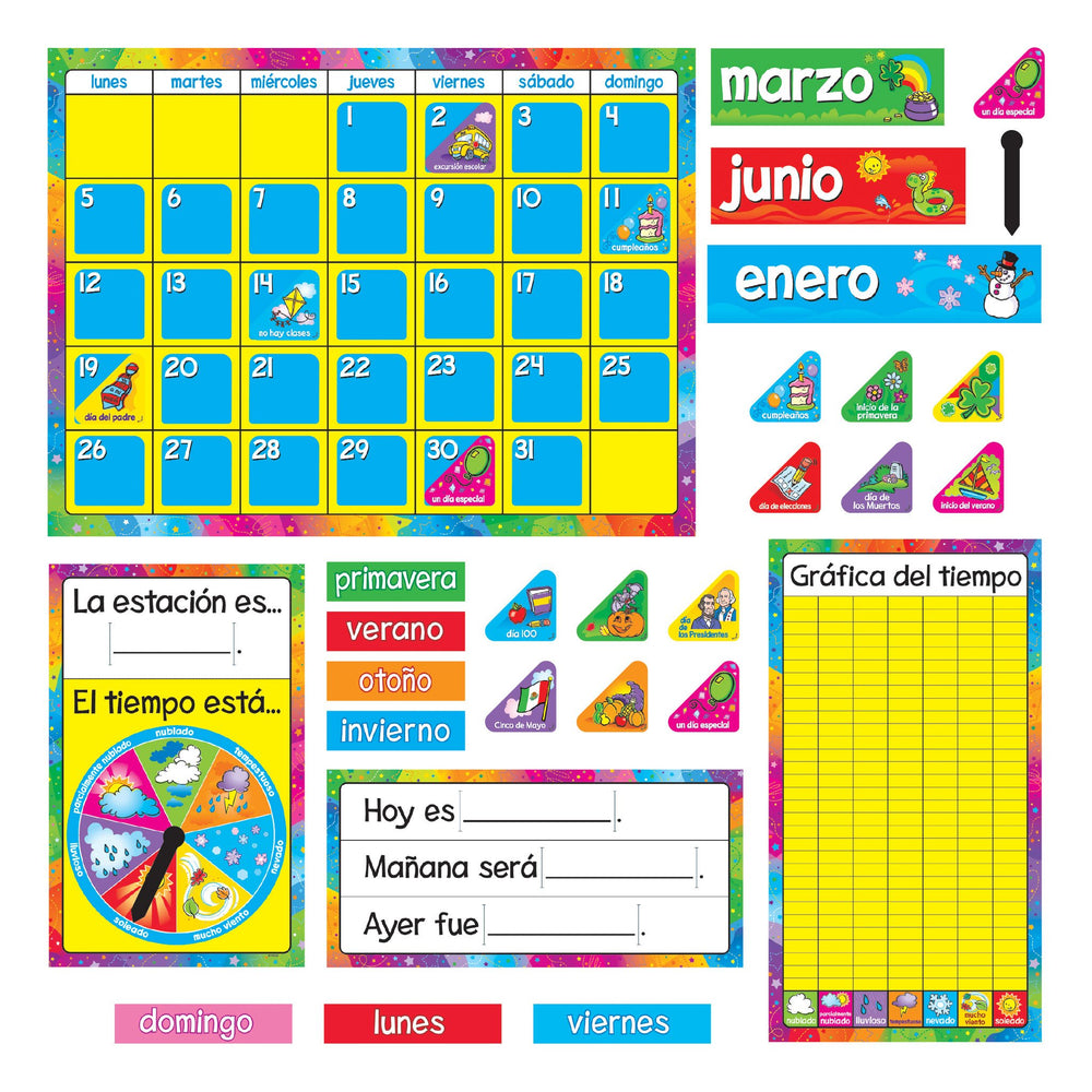 T8097 Bulletin Board Spanish Calendar