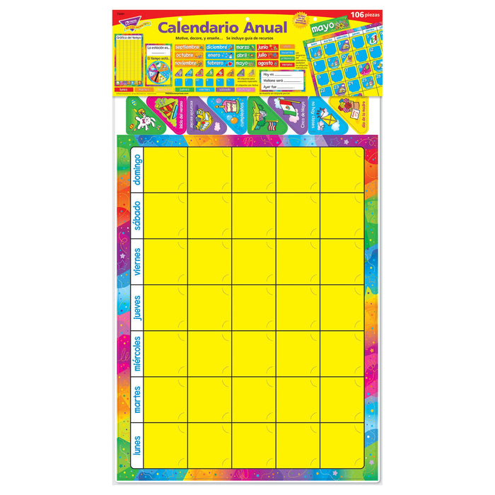 T8097 Bulletin Board Spanish Calendar Package