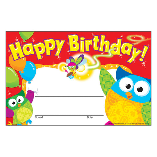 T81044 Award Birthday Owl Stars