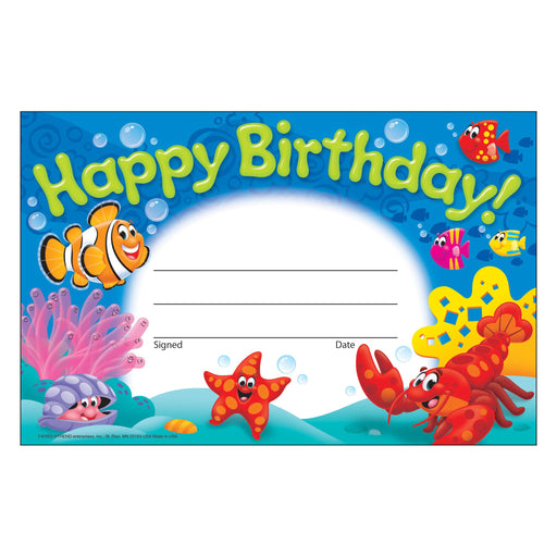 T81055 Award Happy Birthday Sea Life