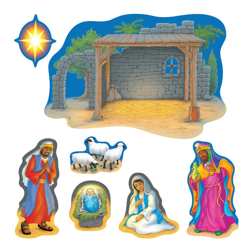 T8125 Bulletin Board Nativity