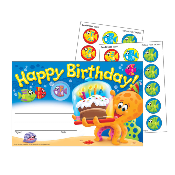 T81302 Award Birthday Scratch n Sniff Sea Life