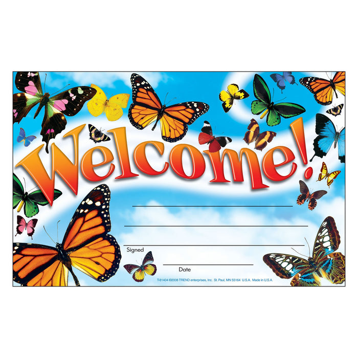 T81404 Award Welcome Butterflies