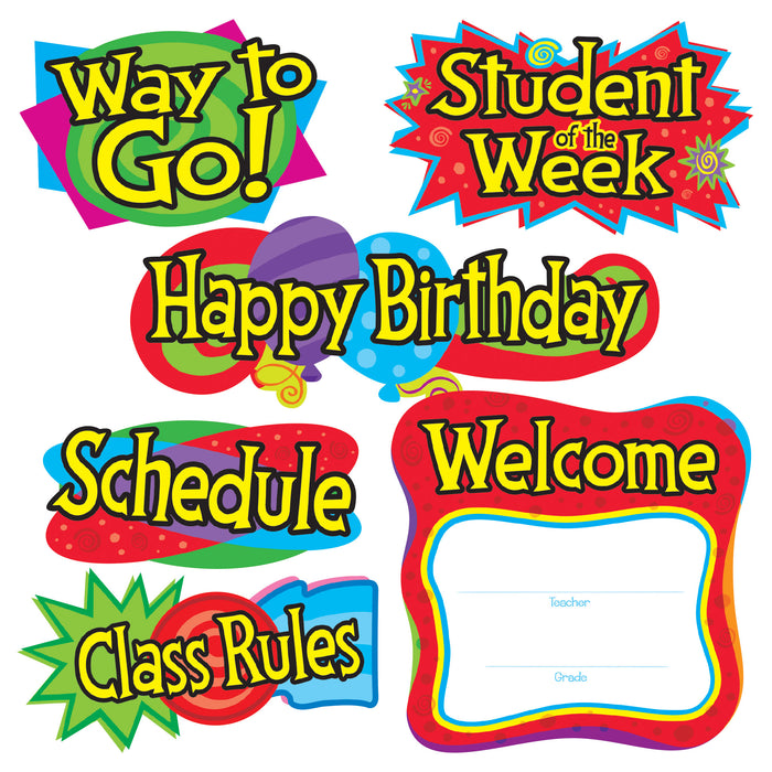 T8153 Bulletin Board Classroom Signs