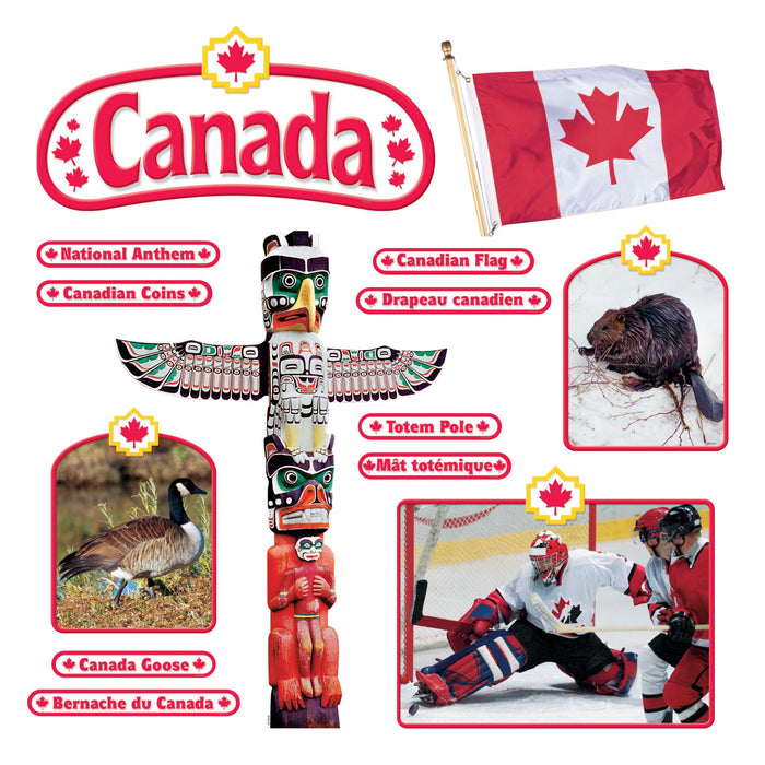 T8172 Bulletin Board Canadian Symbols