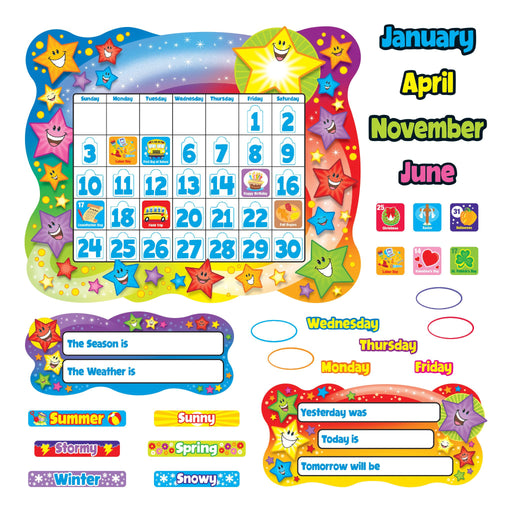 T8194 Bulletin Board Star Calendar