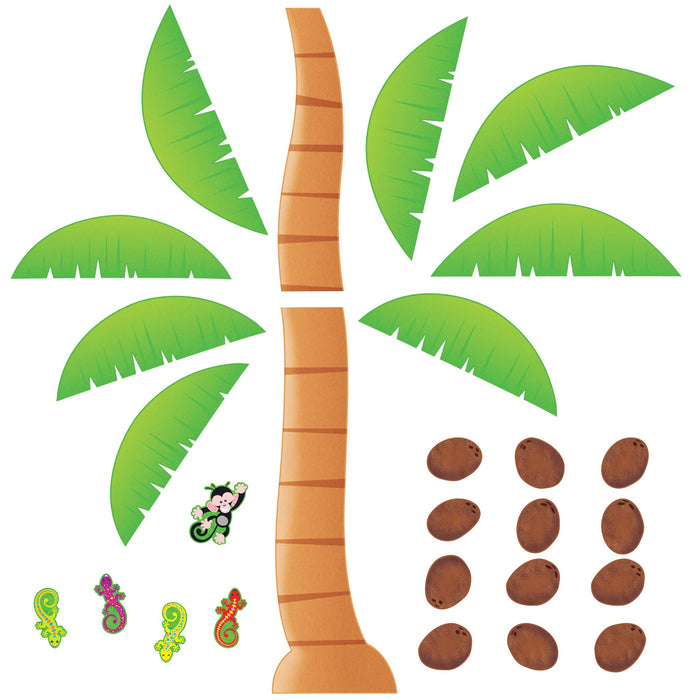 T8220 Bulletin Board Monkey Palm Tree