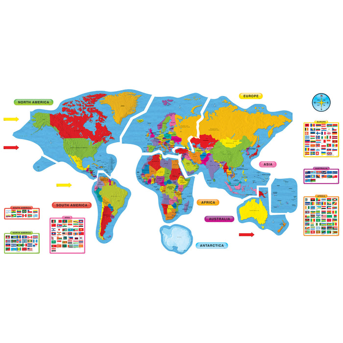 T8259 Bulletin Board Continents Countries