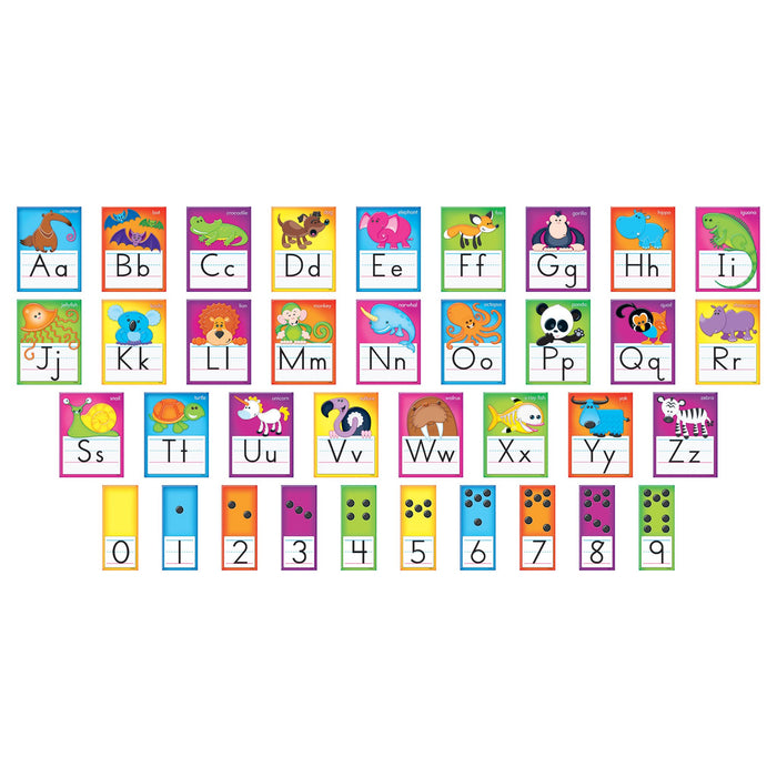 T8265 Bulletin Board Animal Manuscript Alphabet Line