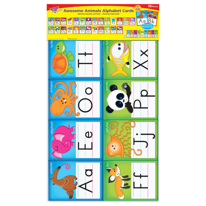 T8265 Bulletin Board Animal Manuscript Alphabet Line Package