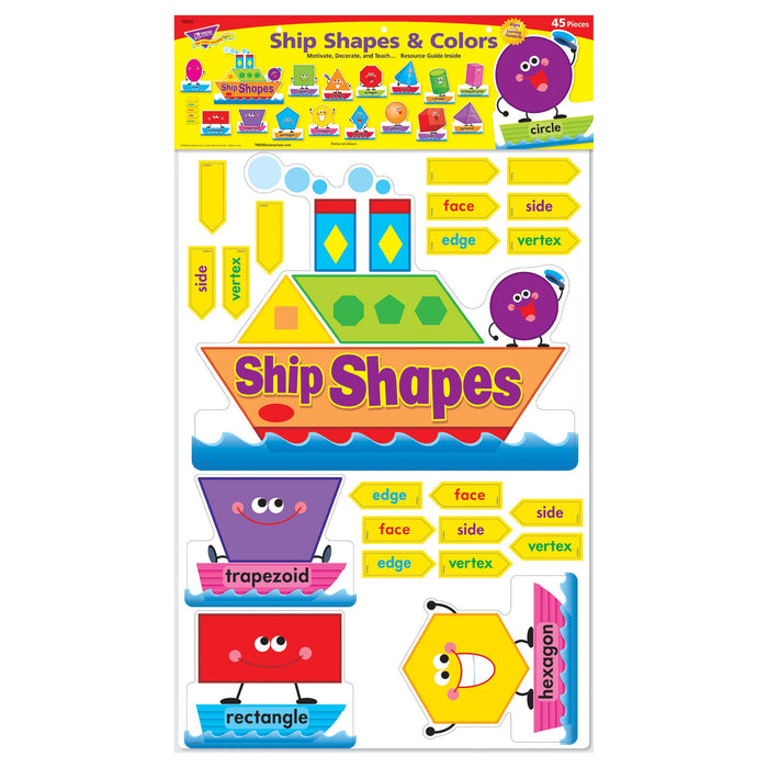 T8270 Bulletin Board Shapes Colors Package