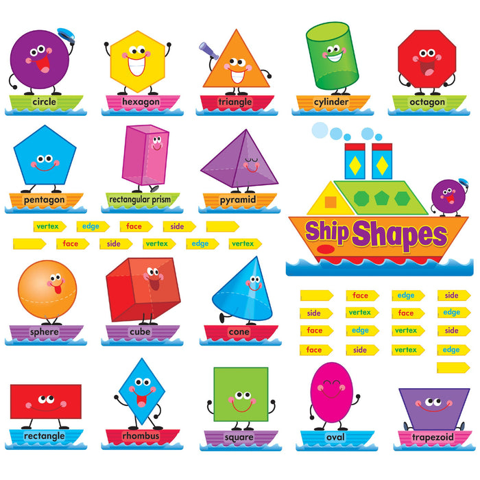 T8270 Bulletin Board Shapes Color