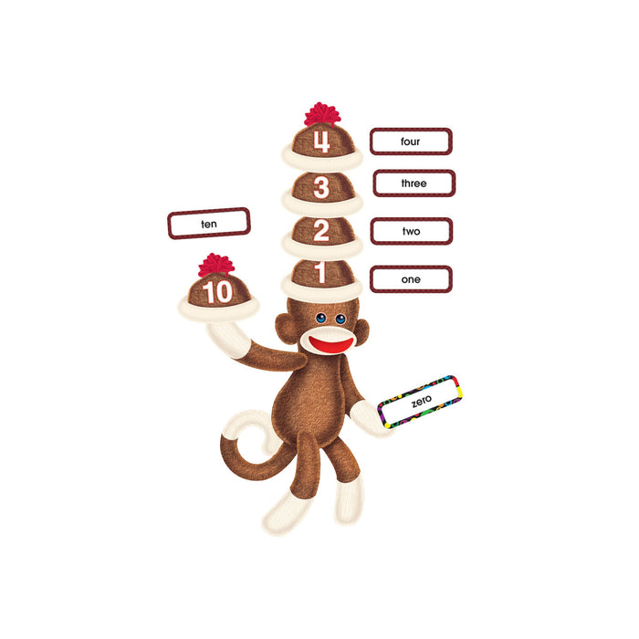 T8298 Bulletin Board Sock Monkey Numbers 0 120