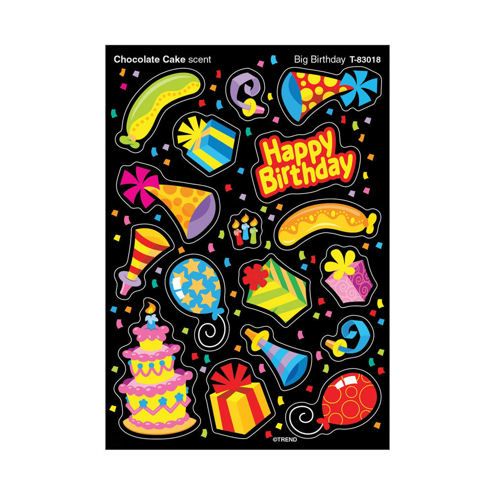 T83018 Stickers Scratch n Sniff Chocolate Cake Birthday