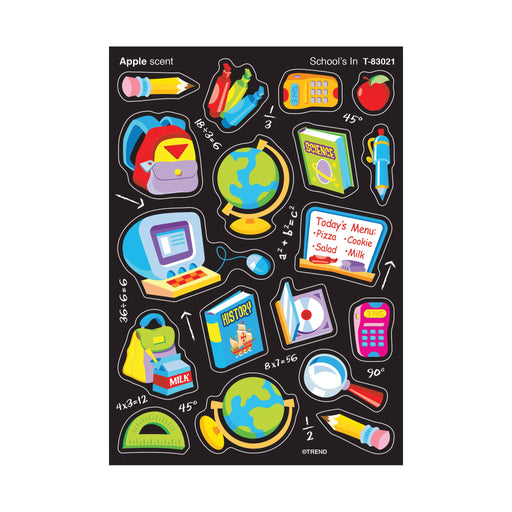 T83021 Stickers Scratch n Sniff Apple School Tools