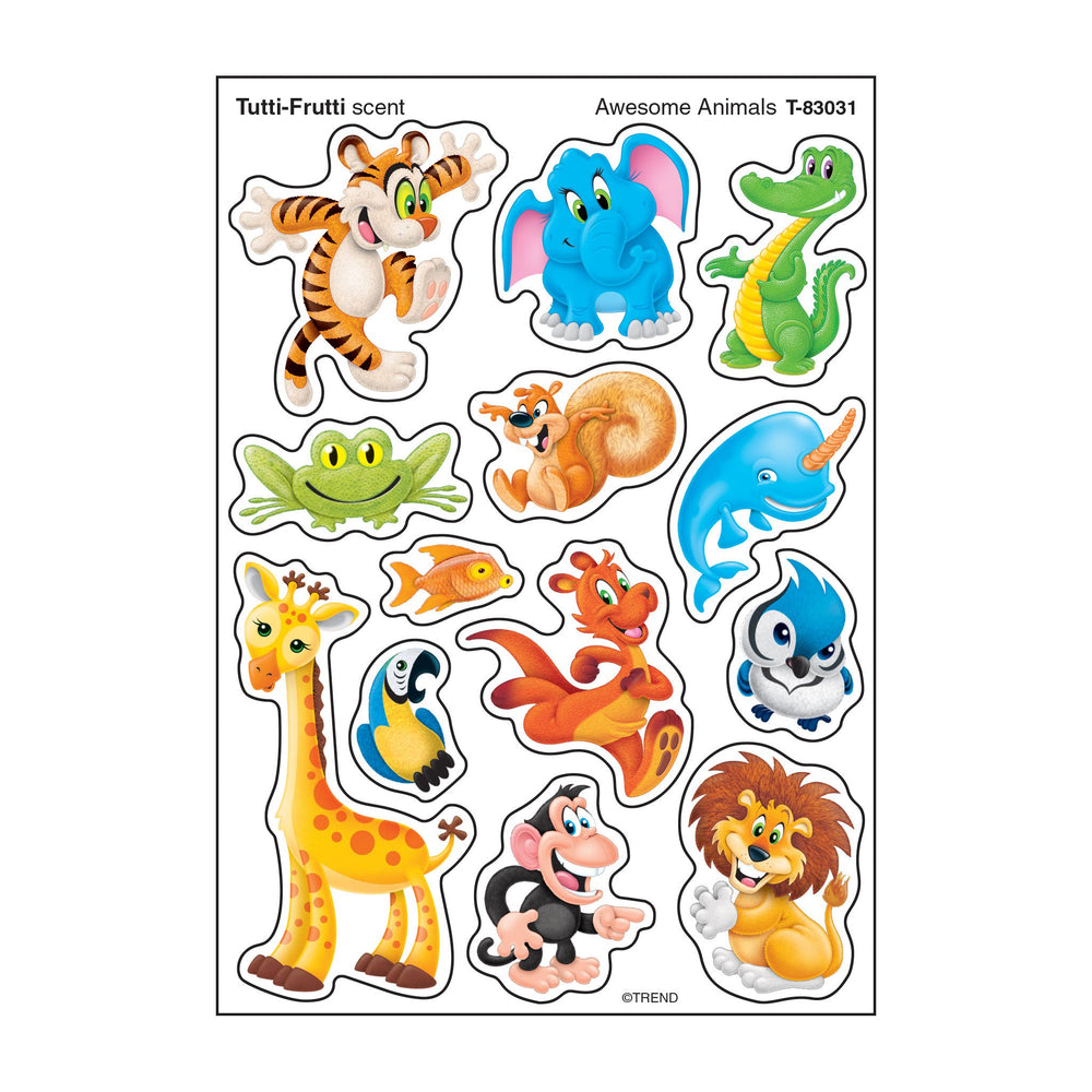 T83031 Stickers Scratch n Sniff Tutti Frutti Awesome Animals
