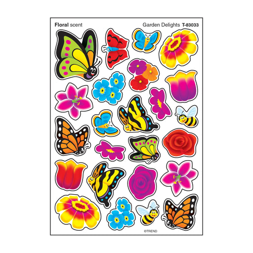 T83033 Stickers Scratch n Sniff Garden Flowers Bugs