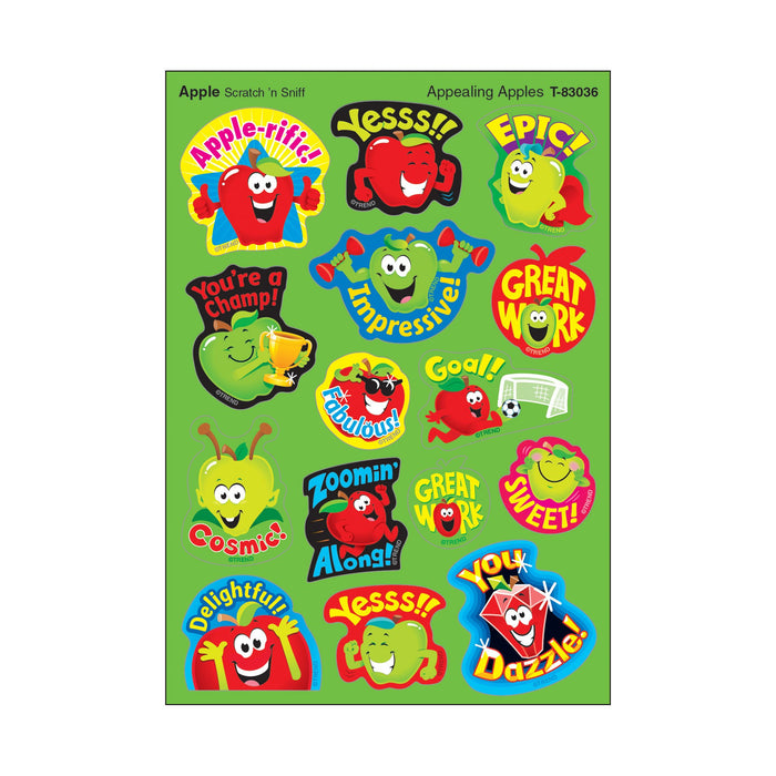 T83036 Stickers Scratch n Sniff Apple