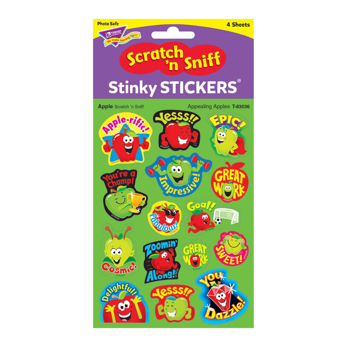 T83036 Stickers Scratch n Sniff Apple Package