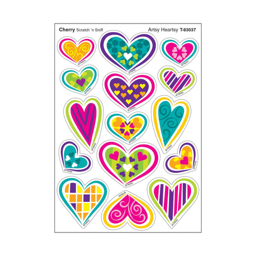 T83037 Stickers Scratch n Sniff Cherry Hearts