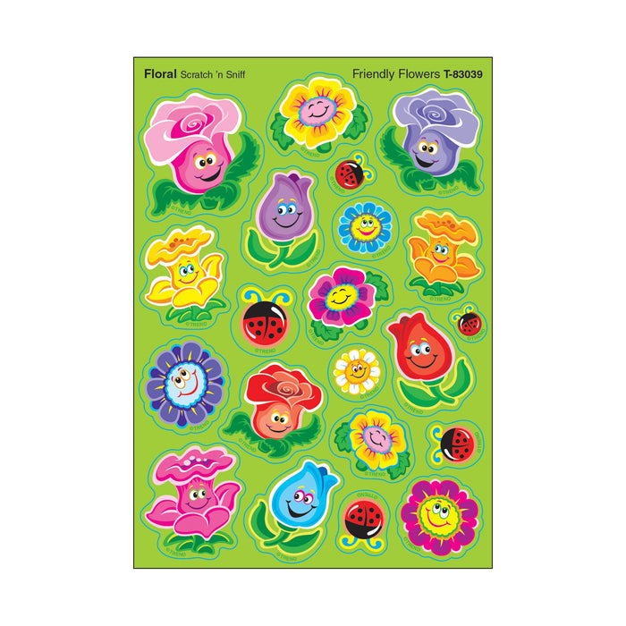 T83039 Stickers Scratch n Sniff Floral Friendly Flowers