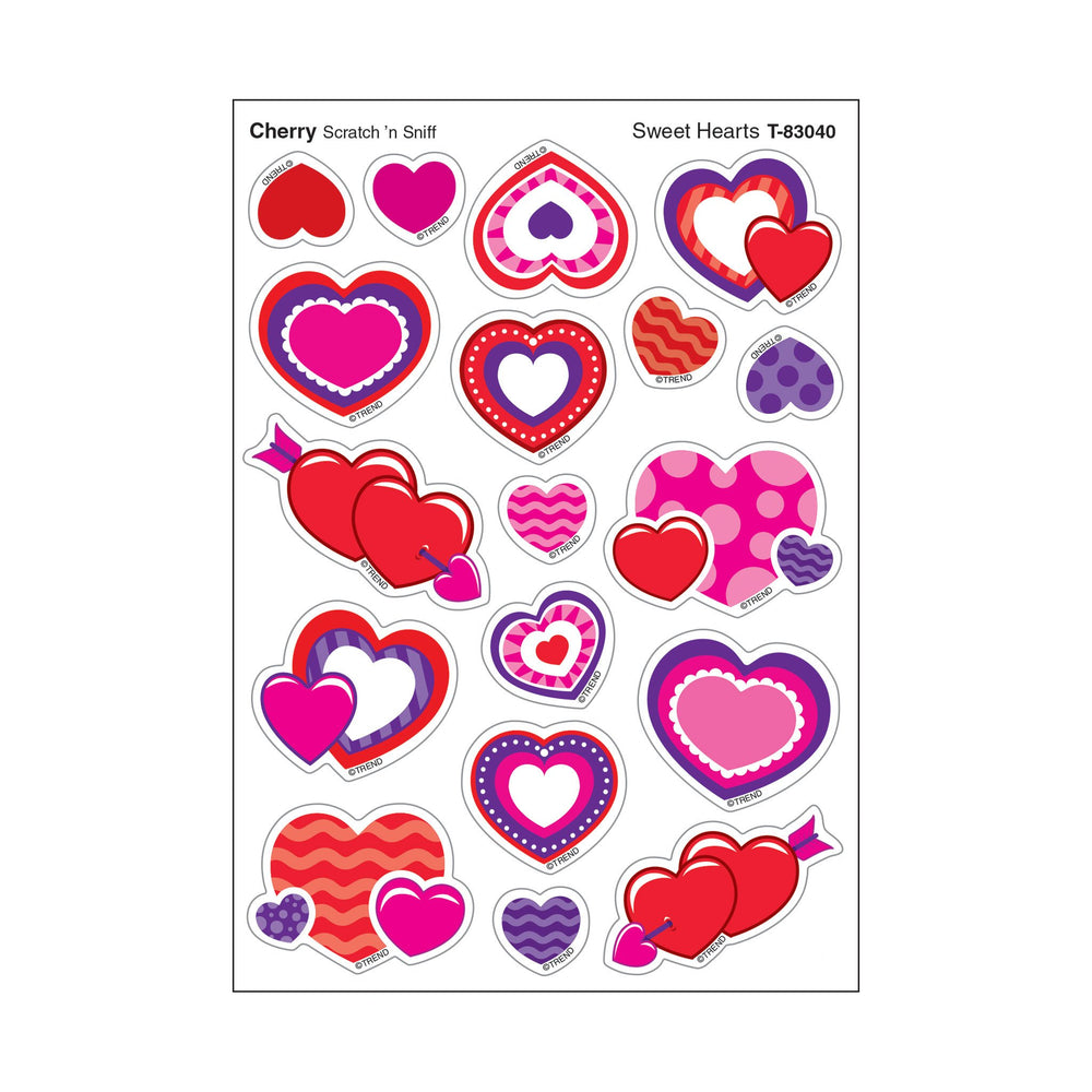 T83040 Stickers Scratch n Sniff Cherry Hearts