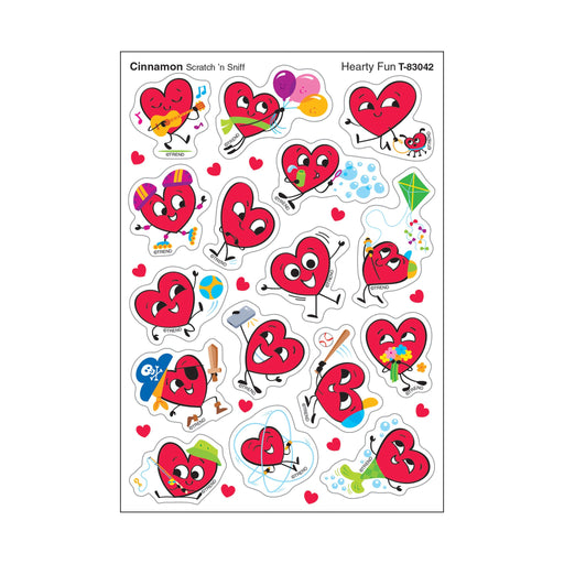 T83042 Stickers Scratch n Sniff Cinnamon Emoji Hearts